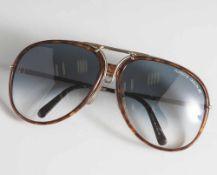 Vintage-Sonnenbrille, Carrera, Porsche Design, Horn, mit Wechselrahmen.