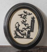 Scherenschnitt, 1. Hälfte 20. Jahrhundert, Aschenputtel, re. u. m. Bleistift sign. Seltmann. Ca.