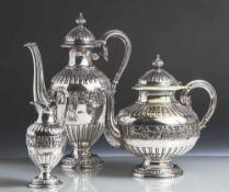 Kaffee-/Teekern, Elkington & Co., Birmingham, England, 1887, versilbert, gemarkt: Modellnr. 15151,
