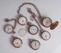 Konvolut von 17 versch. Taschenuhren, davon 3x Silber, Punze 800 und 1x Silber, Punze 900, 6 Uhren