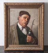 "Rinaldi, Claudio (geboren 1852), Pfeiferauchender Bauer, Öl/Lw., li. o. sign. u. bez. ""Firenze"". Ca."