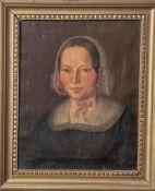Unbekannter Künstler (1. Hälfte 19. Jahrhundert), Brustporträt einer Frau mittleren Alters mit Haube