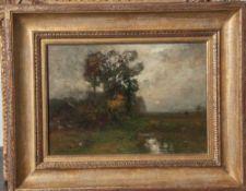 Murphy, John Francis (1853-1921), Wolkenverhangene Sommerlandschaft mit Bachlauf, Öl/Lw. doubl., li.