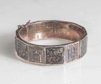 Armreif, Silber 925, 1. Hälfte 20. Jahrhundert, 1920/30er Jahre, Kastenschloß mit