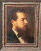 Blankenburg (19. Jahrhundert), Porträt eines jungen bärtigen Mannes im Profil, Öl/Lw., li. u. sign.,