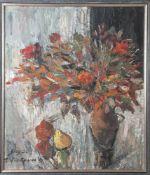 Davletschina, Schaura (geb. 1946), Blumenstillleben, Öl/Lw, li. unten sign. und dat. (19)91,