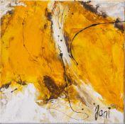 "Jani, ""Gelber Falter"", Acryl/Lw, re. u. sign. Ca. 20 x 20 cm, auf Keilrahmen aufgezogen."