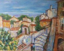 """Rosetti, Antonio (geb. 1926), Paesaggio Siciliano, Öl/Lw, re. u. sign. """"A. Rosetti"""", sizilianische"""
