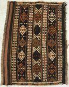 Alter Wandteppich, wohl Kelim. Ca. 95 x 69 cm.