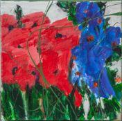 "Jani, ""Blütenzauber"", Acryl/Lw, re. u. sign. Ca. 20 x 20 cm, auf Keilrahmen aufgezogen."