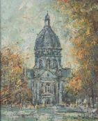 Prescher van Ed, Walter (1916-1988), Ansicht der Christuskirche in Mainz, 1973, Öl/Lw, re.u.