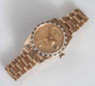 Rolex, Herrenuhr, Ref. 18148, Serien No. 8053, Oyster Perpetual Day-Date in 750erGelbgold, seltene