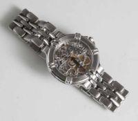 Herrenarmbanduhr, Maurice Lacroix, Modell Calypso 72, Automatik, skelettiertes Uhrwerk,