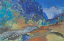 "Trüb, Charles (geb. 1925), ""Pian d'As (Calancatal)"", 1974, Öl/Platte, li. u. sign. u.dat., rs."