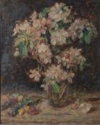 Hagemann, Oskar H. (1888-1985), Blumenstillleben, Öl/Lw/Platte, re. u. sign. u. dat.1948. Ca. 53 x