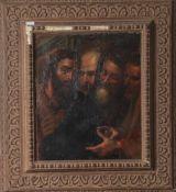 Unbekannter Maler (wohl 16./17. Jahrhundert), wohl die Apostel darstellend, Öl/Lw. Ca. 37x 45 cm,