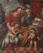 Unbekannter Maler (wohl 17./18. Jahrhundert, wohl süddeutsch o. alpenländisch), Jesusknabemit dem