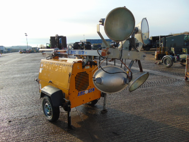 Lot 5 - Arcgen AGLT1387 Kubota Powered Trailer Mounted Lighting Tower