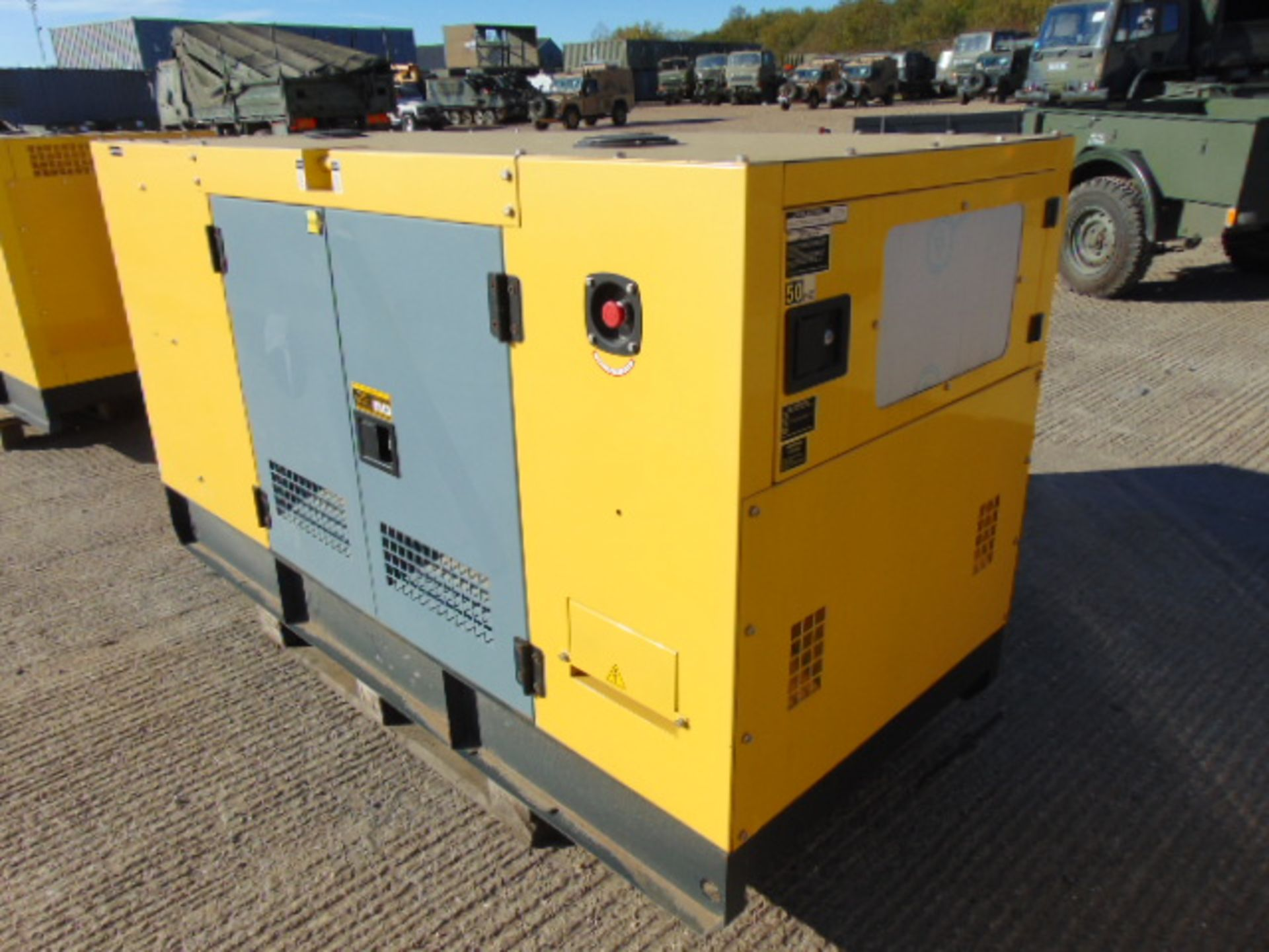 Lot 25 - UNISSUED WITH TEST HOURS ONLY 70 KVA 3 Phase Silent Diesel Generator Set