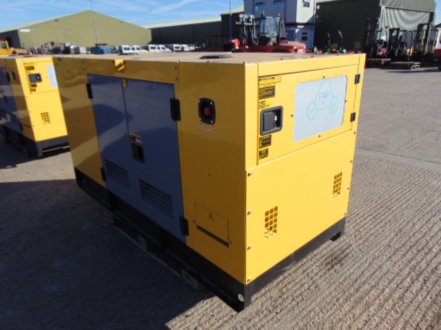 Lot 18 - UNISSUED WITH TEST HOURS ONLY 50 KVA 3 Phase Silent Diesel Generator Set