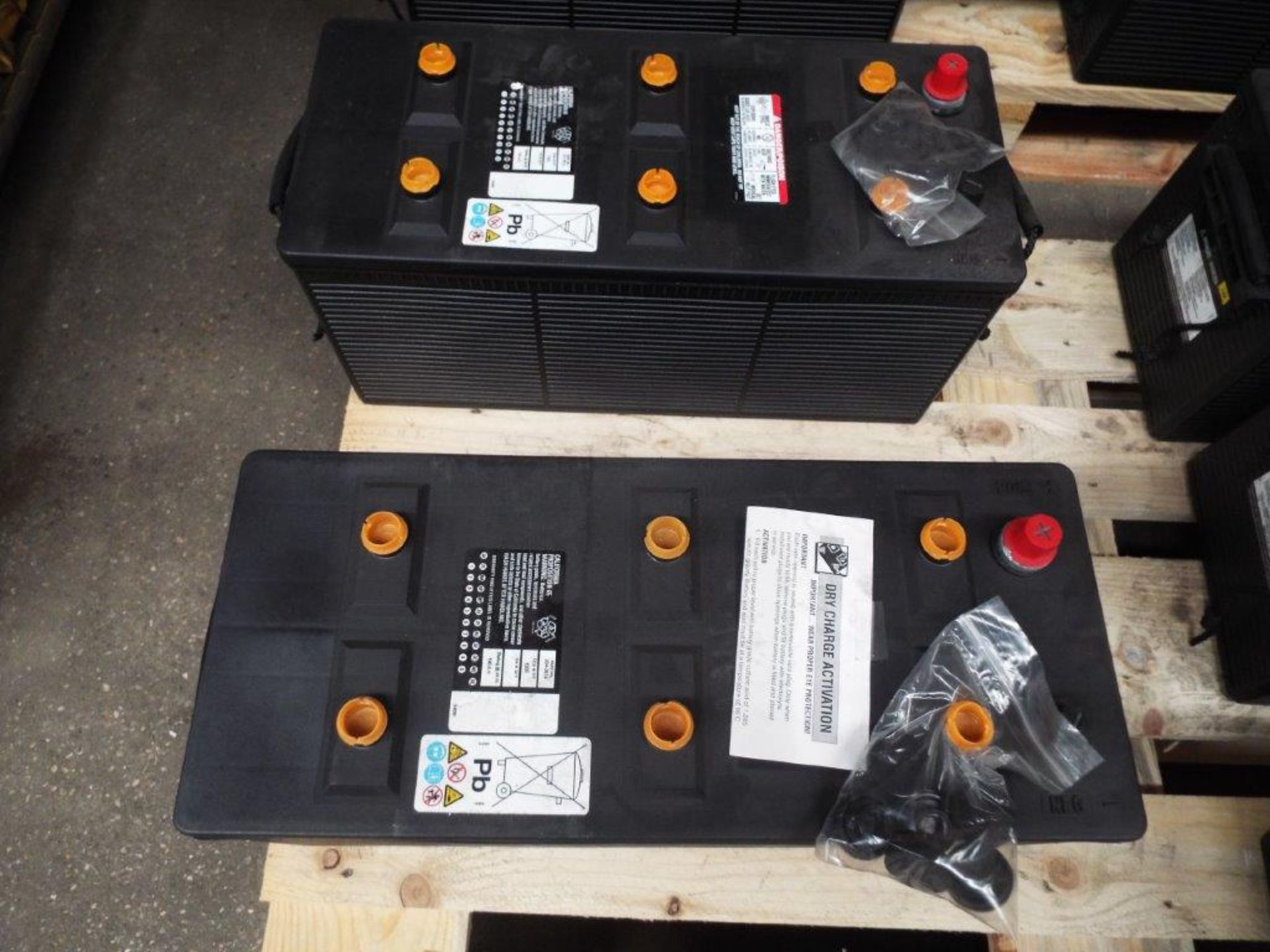 Lot 31 - 2 x Unissued CAT 354-3614 Dry Charge 12v 190A.H. Batteries