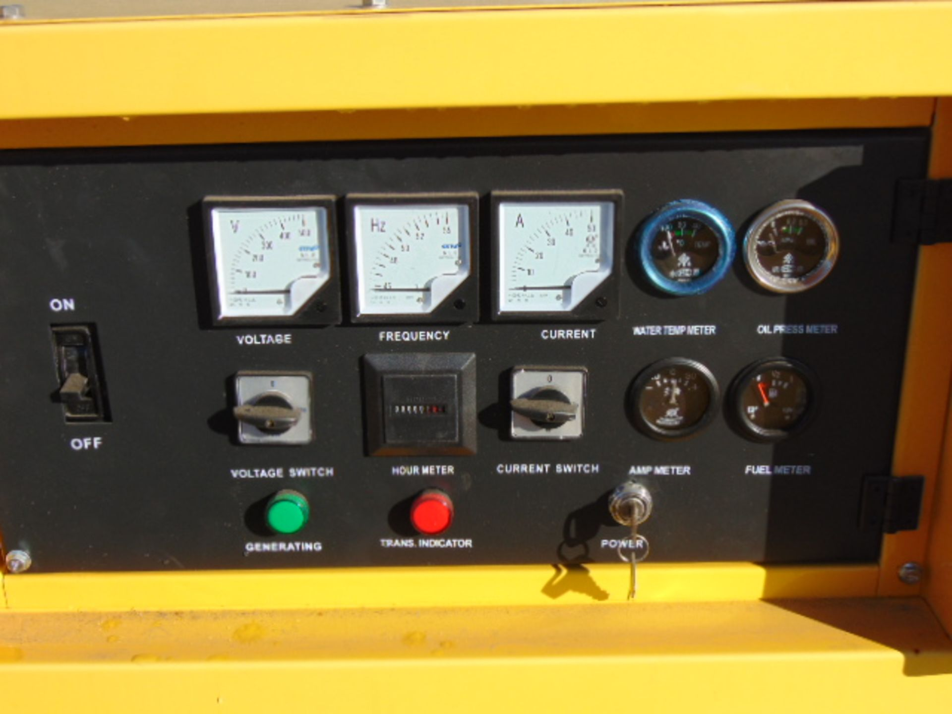Lot 14 - UNISSUED WITH TEST HOURS ONLY 30 KVA 3 Phase Silent Diesel Generator Set