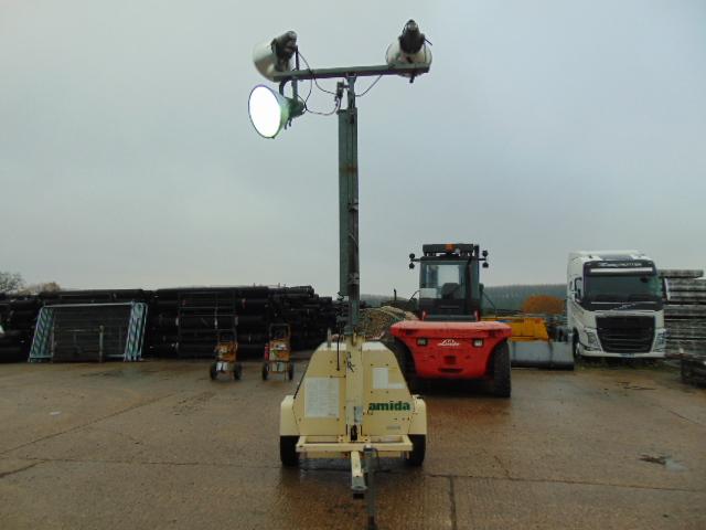 Lot 27 - Amida AL4000 Kubota Powered Trailer Mounted Lighting Tower