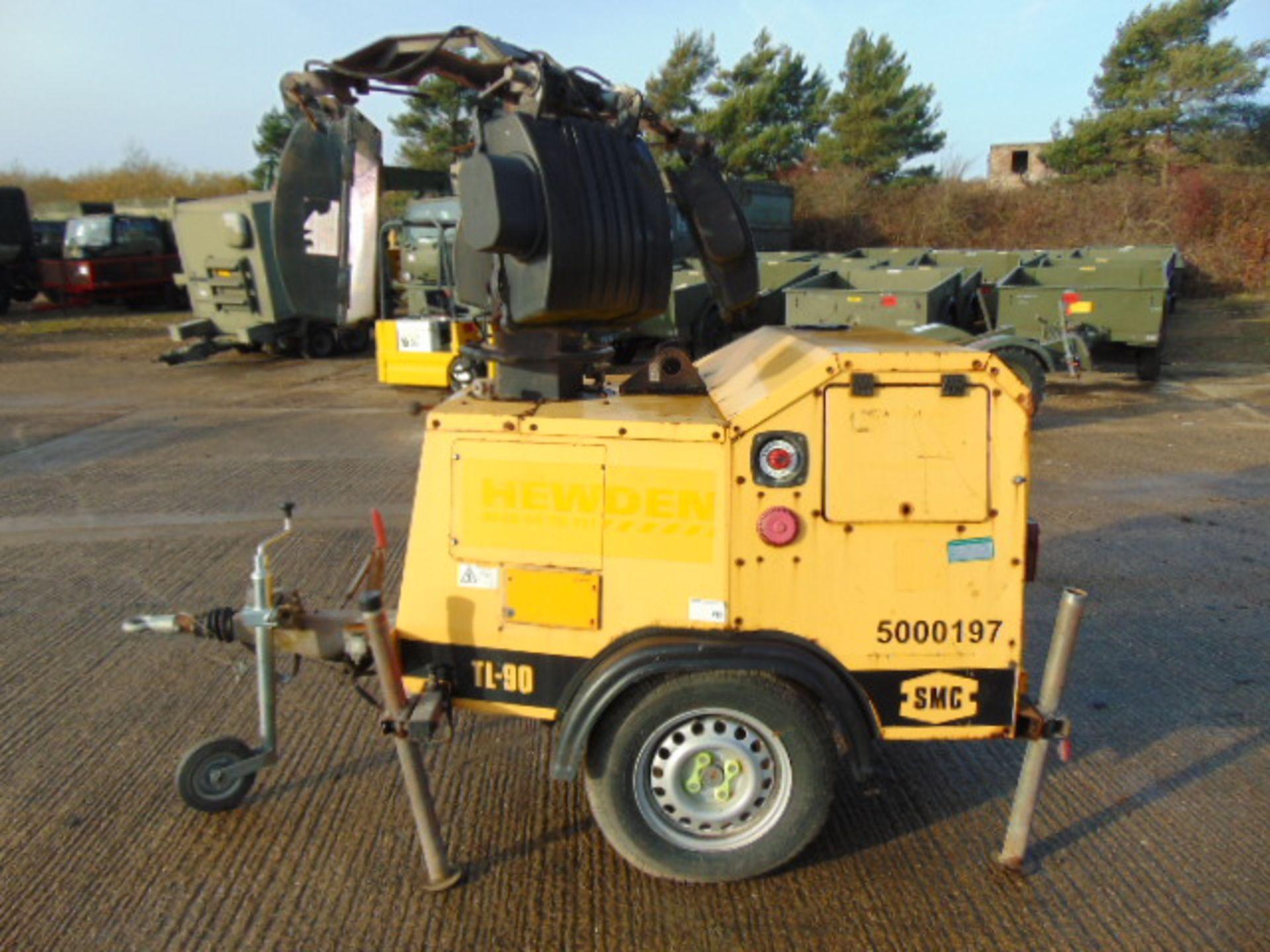 Lot 13 - SMC TL90 Perkins Diesel Powered Trailer Mounted Lighting Tower