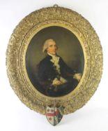 Lot 640 - John Dowman (1750-1854) 'Portrait of Doctor William Ferdinand Blencowe' Of Lowick Hall,