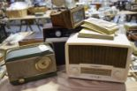 Lot 11 - A group of three vintage radio's The first Bush radio VHF 81 (24cm high), the second a Baird