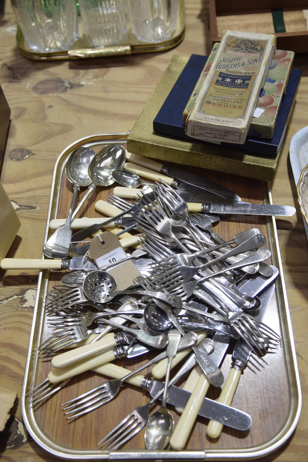 Lot 10 - A quantity of various cutlery To include a large amount of forks, desert spoons, knives, sugar nips,