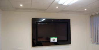 A SAMSUNG UE-F6100 Series 60 inch LED Wall mounted Television and Surround