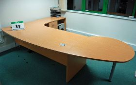 The Contents of the Managing Directors Office inlcuding 1800mm Light Oak Effect Right Hand