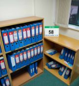 A 1200mm x 750mm Open Fronted Bookcase & An 800mm x 750mm Open Fronted Bookcase (Contents NOT