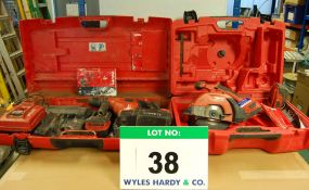 A HILTI TE 7A 36V Heavy Duty SDS Drill/Breaker with Two 36V 3.3AH Battery and Mains Charger and A