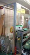 An Approx. 4M x 1M x 2.2M (H) Wire Mesh Steel Framed Quarrantine Cage with Double Gate Entrance