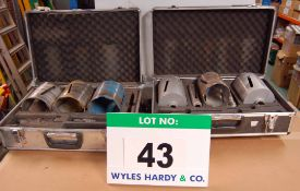 Two Flightcased Diamond Core Drills including Eight Drill Bits (As Photographed)