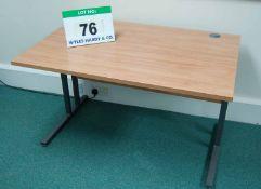 Three 1200mm x 800mm Limed Oak Effect Cantilever Framed Desks