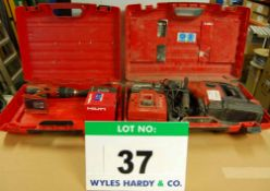 A HILTI TE 7A 36v Heavy Duty SDS Drill/Breaker with Two 3.3AH Batteries and Mains Charger and A