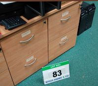 Two Limed Oak Effect 2-Drawer Filing Cabinets
