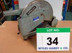 A HITACHI HV-14 355mm Cut-Off Saw, 110V