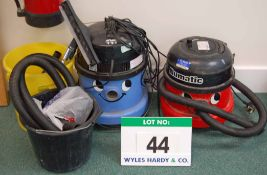 A NUMATIC Charles Wet/Dry Vacuum Cleaner and A NUMATIC Henry Vacuum Cleaner with Accessories (As