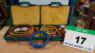 Two REFCO 4-Valve Manifold Test Kit (As Photographed)
