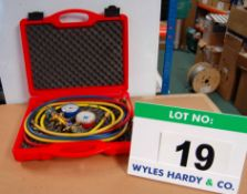 A YELLOW JACKET 4-Valve Manifold Test Kit (As Photographed)