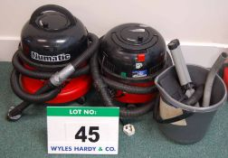 Two NUMATIC Henry Vacuum Cleaners and Accessories (As Photographed)