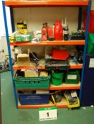 A Bay of Medium Duty Storage Racking & Contents (As Photographed)