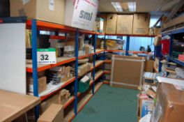Twelve Bays of Quick Build Shelving with Five Shelves per Bay. (Note - Contents NOT INCLUDED) (Use