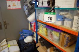 A Quantity of PPE Equipment and Consumables including Disposal Overalls, HiVis Jackets, Latex &