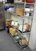 Seven Various Wire Framed Catering Racks (As Photographed) (Excludes Contents)