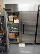 A FOSTERS Xtra XR1300L Stainless Steel Double Door Commercial Double Door Freezer, 880.5-Litre